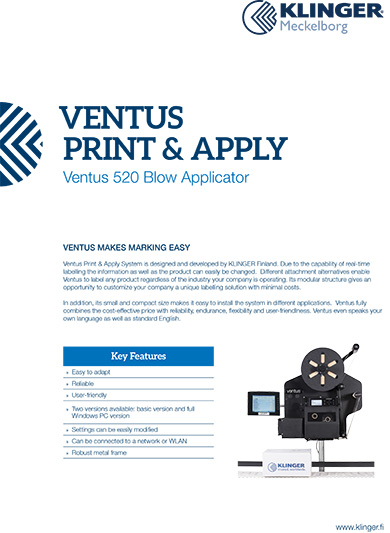 Ventus 520 Blow Applicator