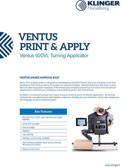 Ventus 920VL Turning Applicator
